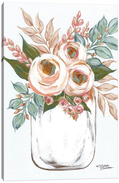 Floral Jar Canvas Art Print