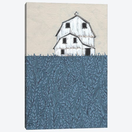 Fields of Blue Canvas Print #MNO88} by Michele Norman Canvas Art