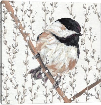 Wee Chickadee Canvas Art Print