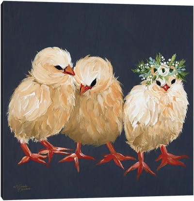 Chick Trio Canvas Art Print