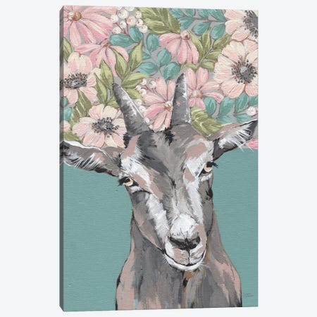 Gertie The Goat Canvas Print #MNO91} by Michele Norman Art Print