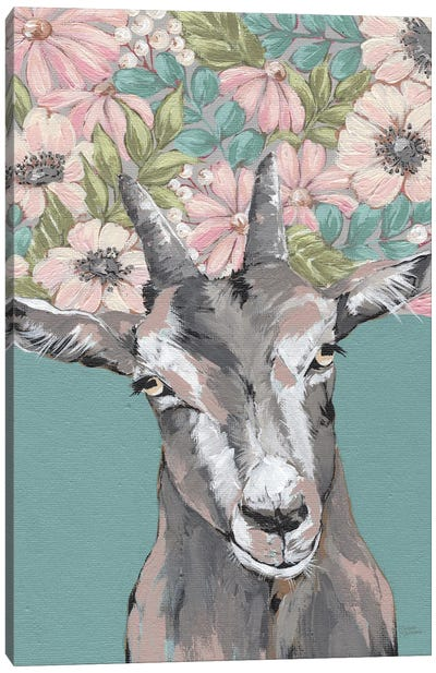 Gertie The Goat Canvas Art Print