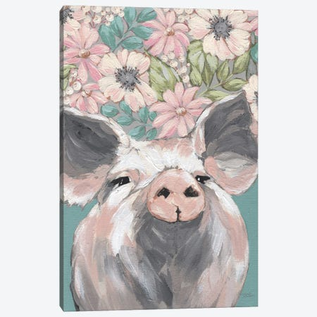 Patrice The Pig 3-Piece Canvas #MNO92} by Michele Norman Canvas Art Print