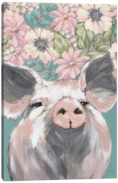 Patrice The Pig Canvas Art Print