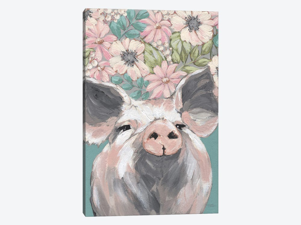 Patrice The Pig by Michele Norman 1-piece Canvas Art Print
