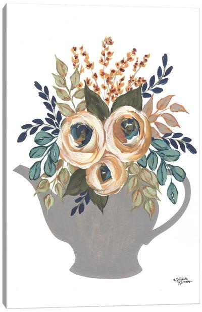 Fall Floral Bowls Canvas Art Print