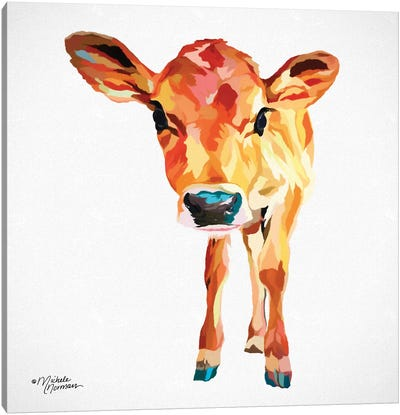 Cute Little Calf Canvas Art Print