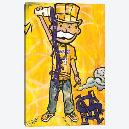 Perp And Yellow Canvas Print #MNP22} by Sinister Monopoly Canvas Print