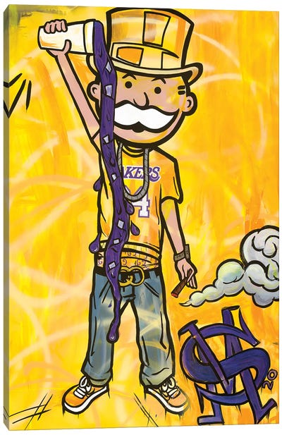 Perp And Yellow Canvas Art Print