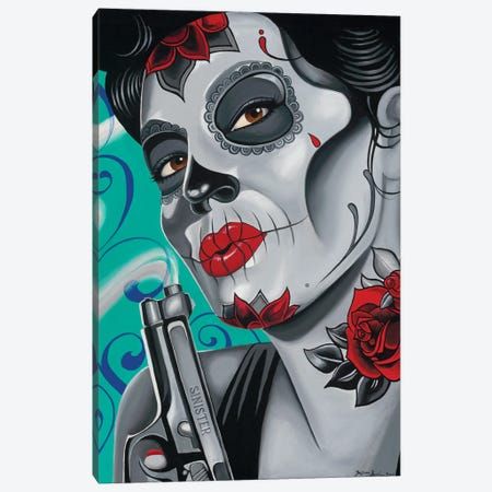 Day Of The Dead Canvas Print #MNP64} by Sinister Monopoly Canvas Art