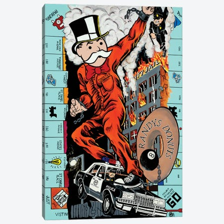 Just Visiting Canvas Print #MNP65} by Sinister Monopoly Canvas Artwork