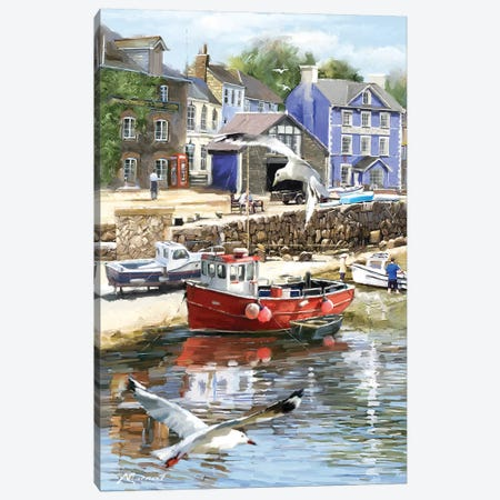 Coastal Town Canvas Print #MNS102} by The Macneil Studio Canvas Artwork