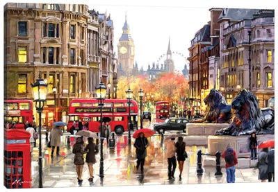 London Landscape Canvas Art Print