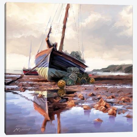 Lobster Pots On The Shore 3-Piece Canvas #MNS109} by The Macneil Studio Canvas Artwork