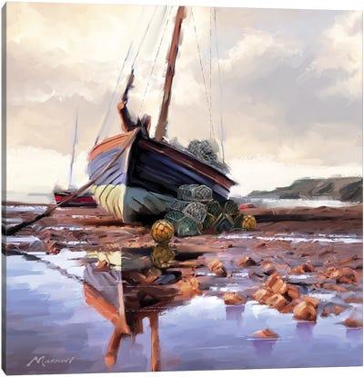Lobster Pots On The Shore Canvas Art Print