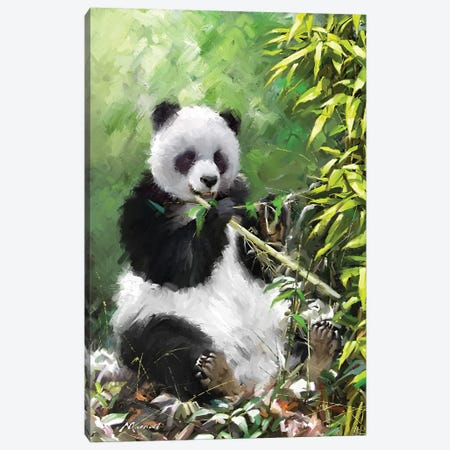Panda I Canvas Print #MNS111} by The Macneil Studio Canvas Print