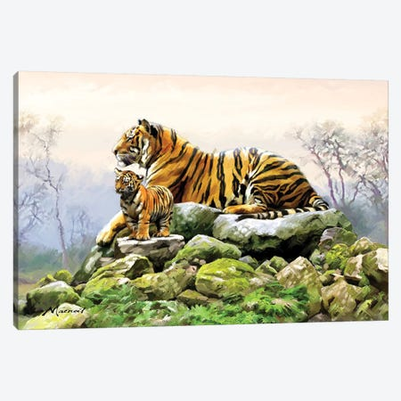 Tiger Canvas Print #MNS113} by The Macneil Studio Art Print