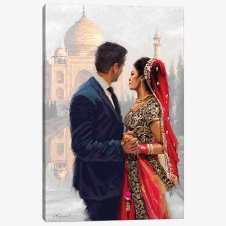 Couple Canvas Print #MNS122} by The Macneil Studio Canvas Wall Art