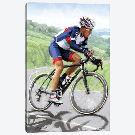 Cyclist Canvas Print #MNS123} by The Macneil Studio Canvas Artwork