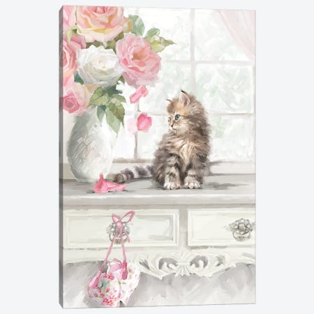 Kitten I Canvas Print #MNS124} by The Macneil Studio Canvas Print