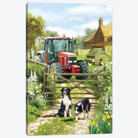 Tractor Canvas Print #MNS128} by The Macneil Studio Canvas Art