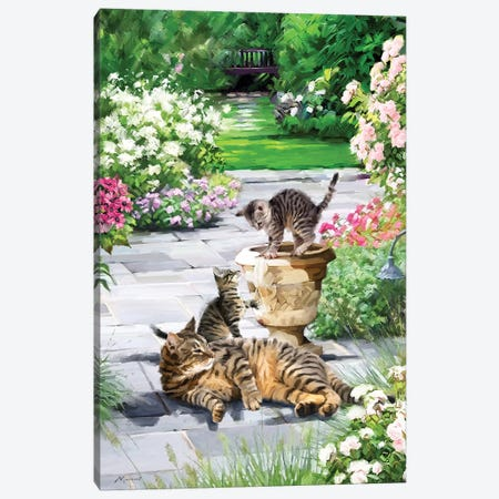 Cats Canvas Print #MNS129} by The Macneil Studio Canvas Wall Art