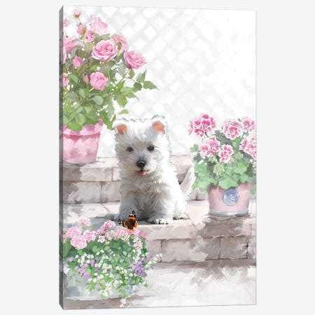 Westie Canvas Print #MNS131} by The Macneil Studio Art Print