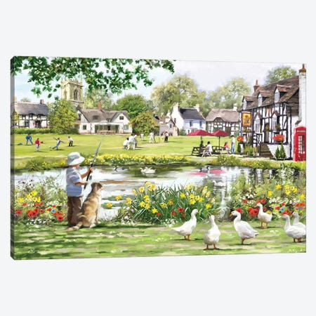 Village Green Canvas Print #MNS137} by The Macneil Studio Canvas Artwork