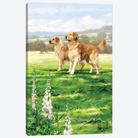 Retreivers Canvas Print #MNS140} by The Macneil Studio Canvas Artwork