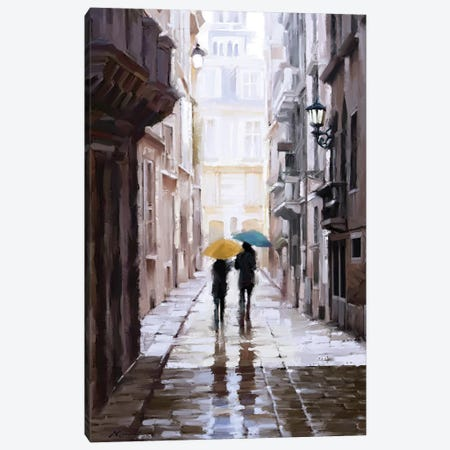 City Stroll I Canvas Print #MNS142} by The Macneil Studio Canvas Wall Art