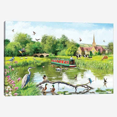 Riverside Canvas Print #MNS148} by The Macneil Studio Canvas Artwork