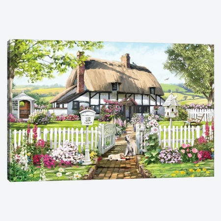 Rose Cottage Canvas Print #MNS154} by The Macneil Studio Canvas Artwork