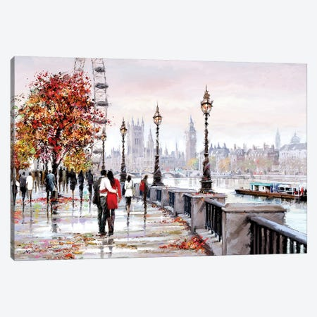 London Eye Canvas Print #MNS155} by The Macneil Studio Canvas Artwork