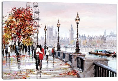 London Eye Canvas Art Print