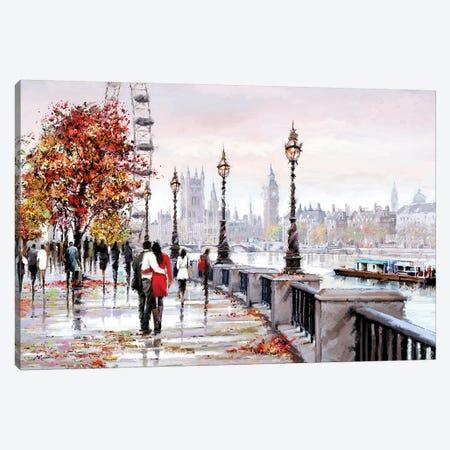 London Eye Canvas Print #MNS155} by The Macneil Studio Canvas Artwork