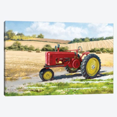 Red Tractor Canvas Print #MNS159} by The Macneil Studio Canvas Print