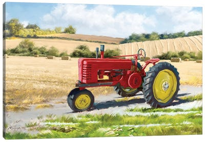 Red Tractor Canvas Art Print