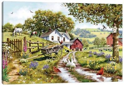 Goose Lane Canvas Art Print