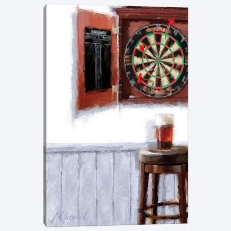 Dart Board Canvas Print #MNS16} by The Macneil Studio Canvas Wall Art
