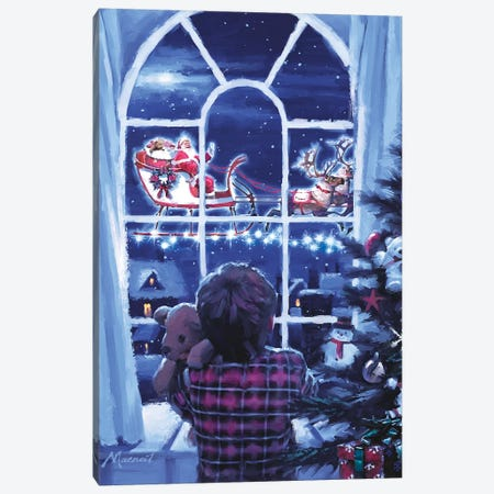 Boy At Window Canvas Print #MNS174} by The Macneil Studio Canvas Art