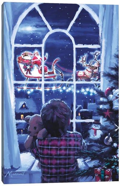 Boy At Window Canvas Art Print