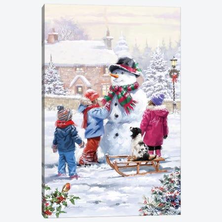 Building Snowman I Canvas Print #MNS178} by The Macneil Studio Canvas Print