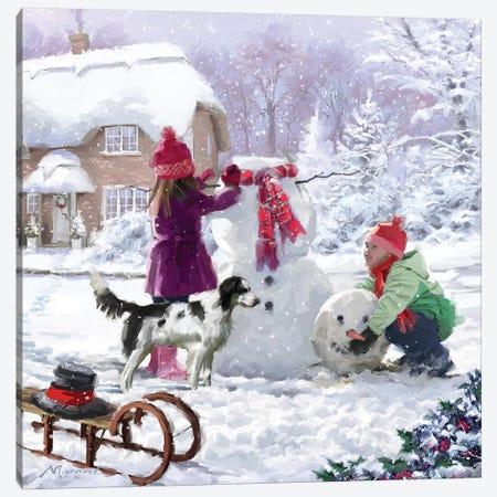 Building Snowman II Canvas Print #MNS179} by The Macneil Studio Canvas Print