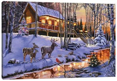 Cabin Canvas Art Print
