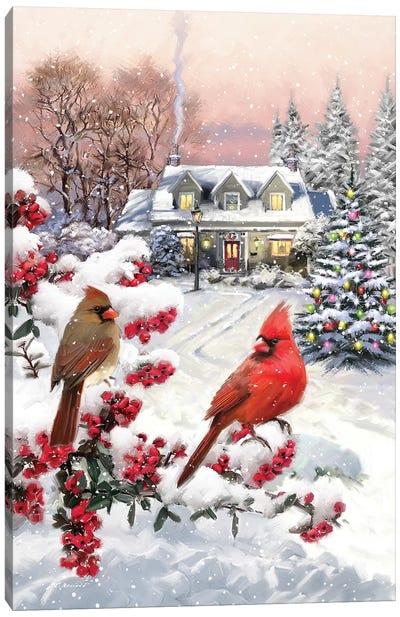 Cardinal Pair Canvas Art Print