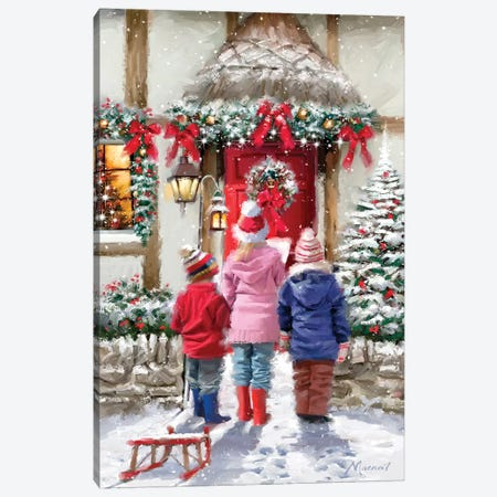 Carol Singers I  Canvas Print #MNS183} by The Macneil Studio Canvas Artwork