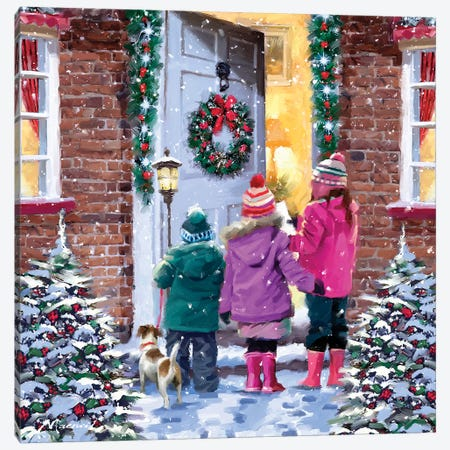 Carol Singers II Canvas Print #MNS184} by The Macneil Studio Canvas Print