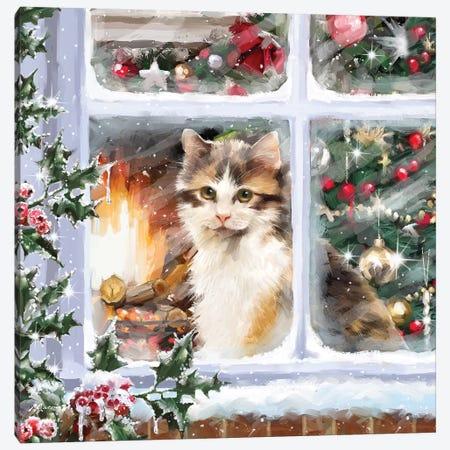 Cat At Window I Canvas Print #MNS186} by The Macneil Studio Art Print
