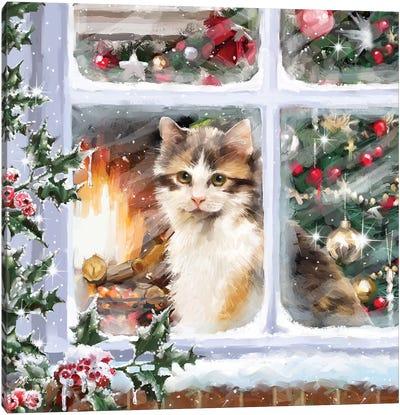 Cat At Window I Canvas Art Print