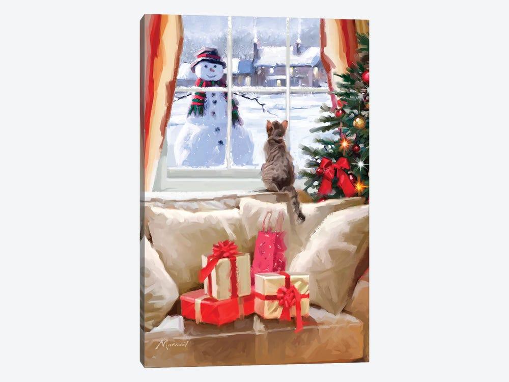 Cat At Window II by The Macneil Studio 1-piece Art Print